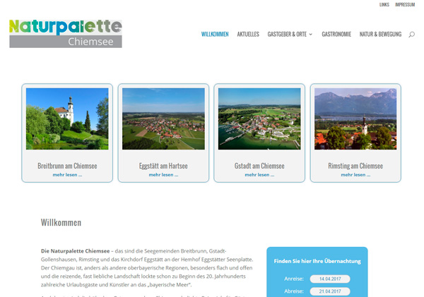 Webdesign Naturpalette Chiemsee